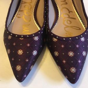 Sam Edelman Pointed Toe Flat Purple Gold